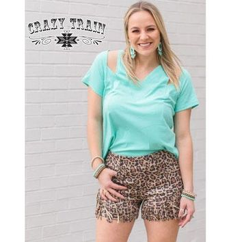 Camino Turquoise Cut Out Tee by Crazy Train