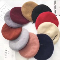 One-nice™ Dior Women Casual Hat Fashion Classic Letter Logo Woolen Beret Cap Painter Cap