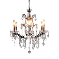 Luisa Pendant Lamp Iron Chinese Crystal