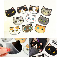 Random Style Mini Cat Head Cosmetic Mirror