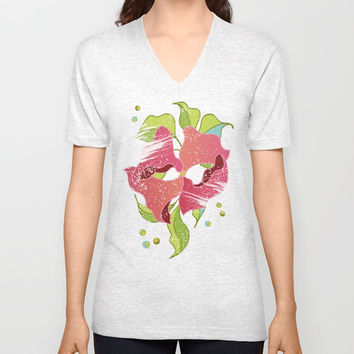 Power Flowers – Spring Unisex V-Neck by M-ohlala