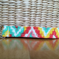 Vibrant Tribal Fabric Keychain