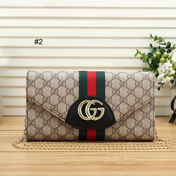 GUCCI trend red and green striped women's chain bag shoulder bag Messenger bag #2