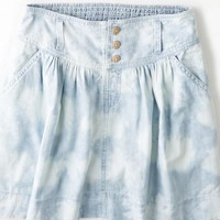 AEO 's Cloud Washed Chambray Skirt (Pale Cloud Wash)