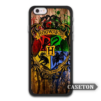 Harry Potter Hogwarts On Wood Case For iPhone 7 6 6s Plus 5 5s SE 5c 4 4s and For iPod 5
