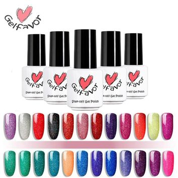Gelfavor 7ml Gel Nail Polish Rainbow Series Soak Off Gel Varnish Semi Permanent UV Gel Lacquer UV LED Primer For Nails Manicure