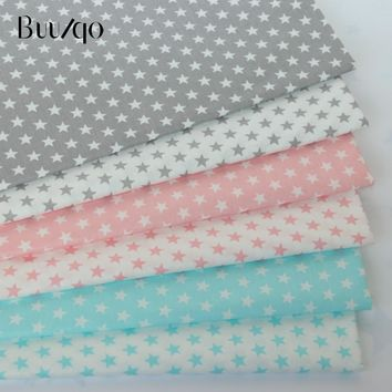 50*160cm Printed Stars baby Cotton twill fabric for DIY bedding cloth Sewing patchwork quilting and fashion dress making fabrics