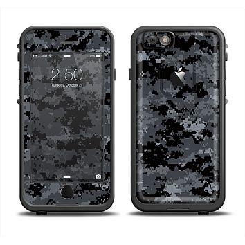 The Black Digital Camouflage Apple iPhone 6 LifeProof Fre Case Skin Set