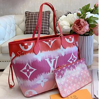Louis Vuitton LV 2020 summer gradual tie dye printing series Bag