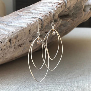Hoop Earrings, Silver Hoop Earrings, Large Silver Hoop Earrings, Large Hoop Earrings, Large Silver Hoops, Silver Hoops,  Large Hoops, Hoops