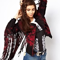 ASOS Fringe Biker Jacket at asos.com