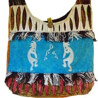 Denimn Peace & Stars Crossbody Bag Nepal Fair Trade By Ragged Ends