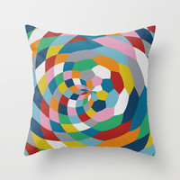 Honey Twist Throw Pillow by Project M
