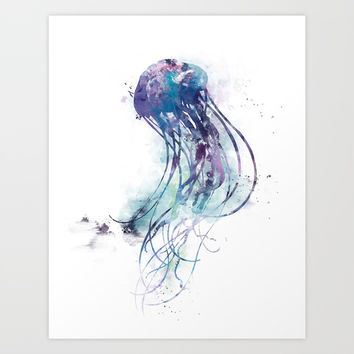 Jellyfish Art Print by monnprint