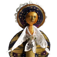 Virgo zodiac art doll ooak  Free US shipping by ThisArtOfMine