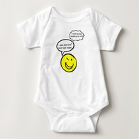 Funny Baby Saying I saw Dad with mom last night... Baby Bodysuit