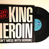 OCTOBER SALE Vinyl Record Jazzy Jeff King Heroin Don't Mess With Heroin 12 Inch Maxi Single 4 Mixes 1985
