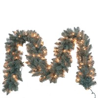 Kurt Adler 9-Foot Pre-Lit Blue Spruce Point Pine Garland