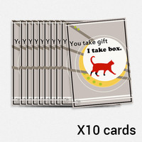 Funny birthday cat card gift box
