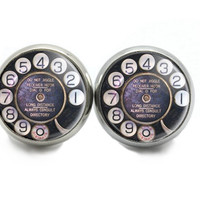 Earrings with Telephones Studs -Unusual Gifts for Christmas