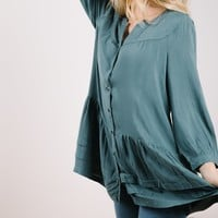 The Ava Layered Peplum in Teal