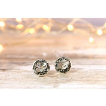 Herkimer Diamond April Birthstone Gemstone Earrings