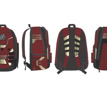 MPBP Marvel Iron Man Backpack  Iron Man Backpack w/ BuiltUp Design