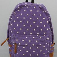 *Accessories Boutique The Dot Print Backpack in Purple : Karmaloop.com - Global Concrete Culture