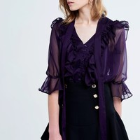 Lena Shine Ruffle Tie Blouse Discover the latest fashion trends online at storets.com