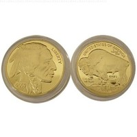 24K Gold Clad Buffalo/Indian Coin- Clad in .999 Fine 24K Gold