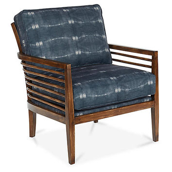 Kubu Accent Chair, Indigo - Accent Chairs - Chairs - Living Room - Furniture | One Kings Lane