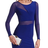 Body-Con Mesh Inset Dress