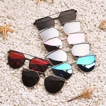 Polarized Sunglasses Women Fashion Summer Style Sun glasses for Women Vintage Classic Brand Designer Twin-Beams Shades [10586084756]