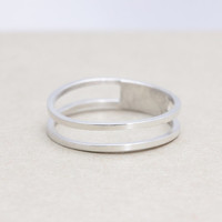 925 sterling silver Double  ring