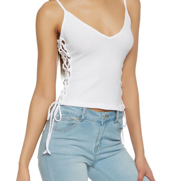 Lace Up Side Cami