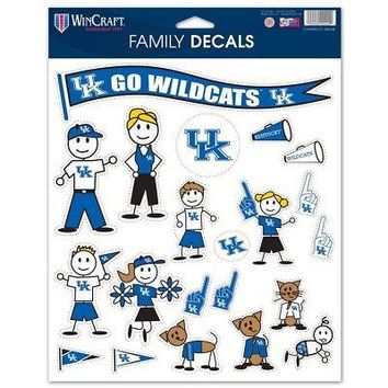 """Licensed Kentucky Wildcats Official NCAA 8"""" x 11"""" sheet Family Car Decal UK by Wincraft KO_19_1"""