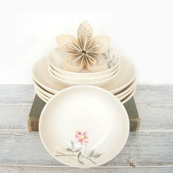 Bowls Cottage Chic Shabby Rose Ballerina by by RhettDidntGiveADamn