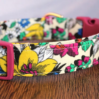 Vibrant Flower Dog Collar