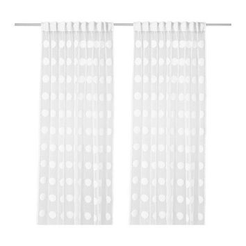 NINNI FIGUR Sheer curtains, 1 pair - IKEA