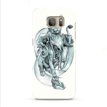 steampunk tattoo cat Samsung Galaxy J7 2015 | J7 2016 | J7 2017 case