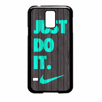 Nike Just Do It Wood Colored Darkwood Wooden Fdl Samsung Galaxy S5 Case
