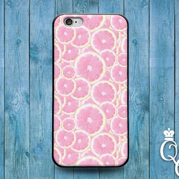 iPhone 4 4s 5 5s 5c 6 6s plus + iPod Touch 4th 5th 6th Generation Cute Pink Orange Lemon Grapefruit Fruit Funny Slices Phone Cover Cool Case