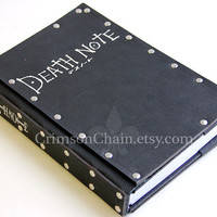 Death Note sketchbook cover by Crimson Chain Leatherworks