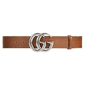 GUCCI - Leather Belt for Men DOUBLE G (406831CVE0N2535)
