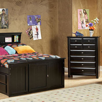 McCormick Road Full Size Bookcase Captain's Bed