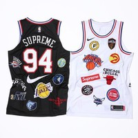 Supreme x Nike x NBA Satin Warm-Up Jersey AQ4228-100