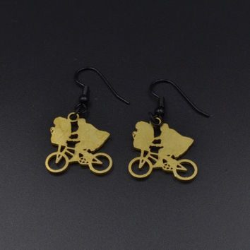 ET Movie Brass Earrings
