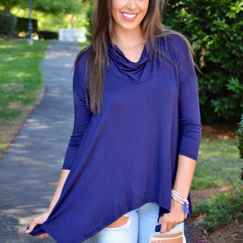 True Match tunic, navy