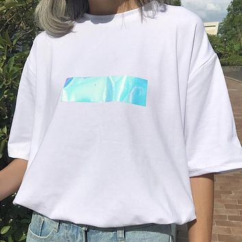 Iridescent Box Logo Tee