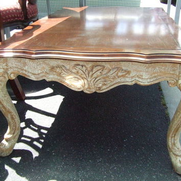 Freemarc Designs Carved French Coffee Table